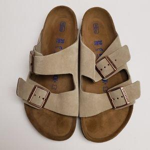 Birkenstock Arizona Taupe Suede Sandal 39